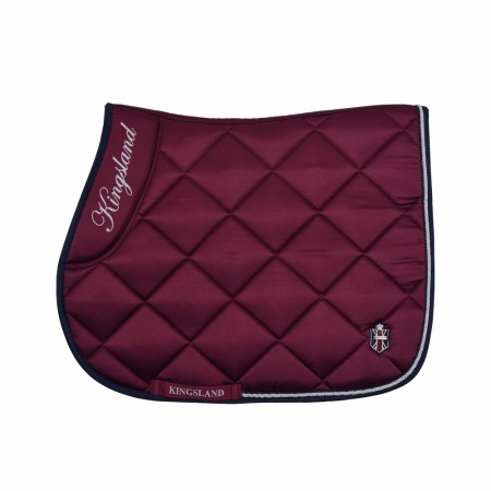 KLcarin Saddle Pad With Coolmax Burgundy Sprang/Dressur